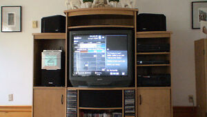 entertainment unit, with Sony TV (tube excellent condition
