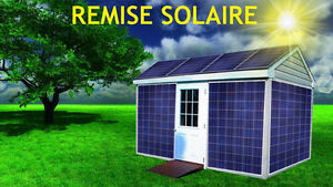 ✸ REMISE SOLAIRE 3000 Watts SOLAR SHED FOR SALE ✸