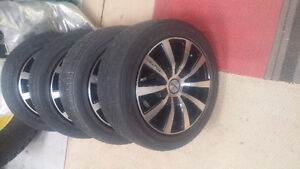 195/55/15R Goodyear Tires and Universal Rims