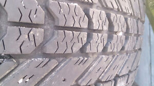 215/60/16 Firestone Winterforce tires on 5x100 rims $50 for set
