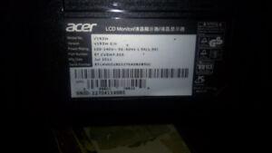 2 acer computer monitors.