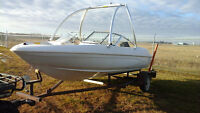 1996 Glastron SSV 170 Open Bow Boat Merc 150HP Wakeboard Tower