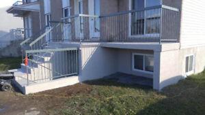 Revêtement de balcon en  acrylique - béton