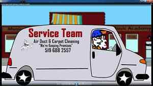Service Team Air Duct & Carpet Cleaning Services For Your Home