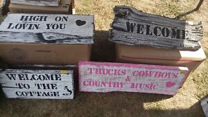 Hand Painted Barn Board Signs & Coat racks Christmas Is Coming!! Kingston Kingston Area image 3