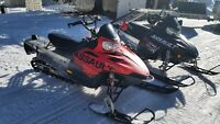 Mint 2009/2010 RMK Assault with Aluma 8610 Sled Trailer