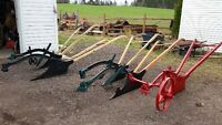 plows, Manure spreaders, Runners, Sleighs etc