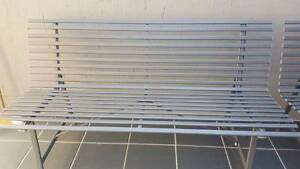 Grey Steel Slat Garden bench Seat Watson North Canberra Preview