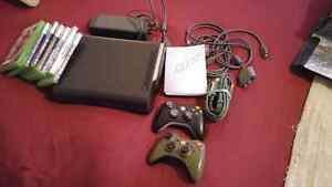 Xbox 360 mint 120gb controllers games