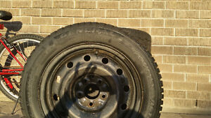 General Altimax Arctic Tires on Rims 205/55 R16 - $500 West Island Greater Montréal image 2
