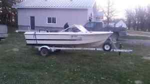 Old 14' fibreglass boat for sale