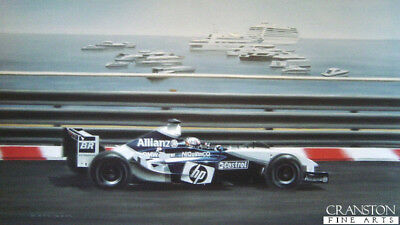 Harbour Master Formula One racing Car F1 Monaco Grand Prix  art print G Coulson