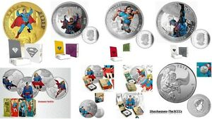 2015 SUPERMAN Gold & Silver COMPLETE 9 Coin Set!