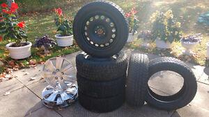 "205X55X16 -4 Winter Tires & Rims, 2 Winter Tires,16"" Wheel Disks"