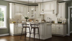 10x10 white kitchen cabinets $1850 (Bring your own cabinet sizes