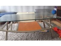 Glass table stunning rich looking open to nearest offer
