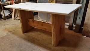 Counter height Log/Timber frame Table