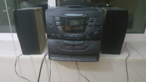 5 disc cd player with cassette
