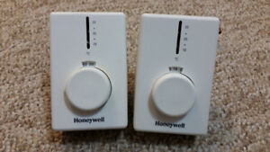 Two Honeywell thermostats