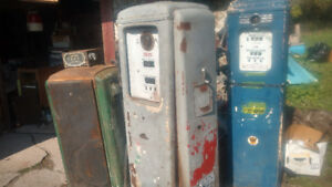 3 antique gas station pumps for sale tolkheim Bennett Erie