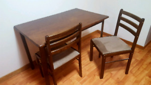 Kitchen table and chairs $100