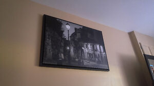 Black anr white painting of italy