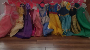 9 Disney Princess Costumes- great condition! Best offer