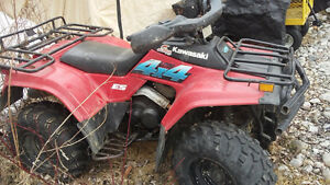 Kawasaki Bayou 300 4x4 ATV for cheap
