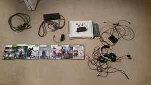 Xbox 360 250Gb + Games and accessories