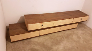 Custom Made Walnut and Maple Entertainment Stand