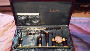 BULOVA EXECUTIVE DESK SET