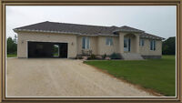 A country house rent on a 1.4 acre property in St. Andrews Mb.