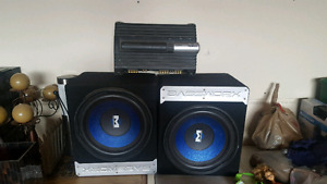 "Sony Xplod Amplifier & 12"" Basswork subs (Asking $299 only)"