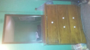 3 drawer dresser with mirror real wood