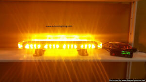Emergency vehicle lighting for construction tow truck security