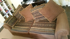 Sofa and love seat. Good condition free