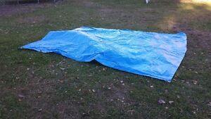 80  bâches bleues 8 x 10