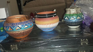 Signed Native American Indian pottery
