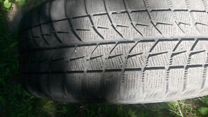 4 lightly used blizzak winter tires and rims