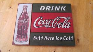 Vintage-look Wooden Coca Cola Sign