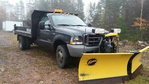 2004 F450 Diesel 4x4 Dump Truck With Plow