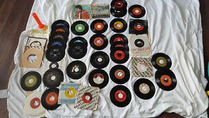 "Large Large lot 45 rpm 7"" vinyl records"