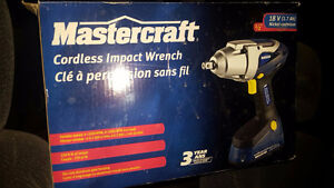 New Mastercraft Cordless Impact Wrench 18v 1/2 inch 2 batteries