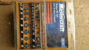 Mastercraft 20-piece Router Bit Set - $60 obo.