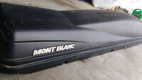 220$ Montblanc roof top carrier ski box