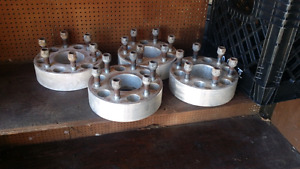 Wheel spacers for a cheve