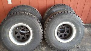 33 12.50 15LT BFGoodrich All-Terrain tires on chev 8 bolt wheels