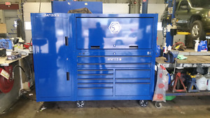 Matco 4s Tool Box with side cabinet and hutch. Brand new