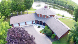 Quiet location on17acres with 7acre trout pond.Potential for B&B