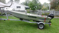 12 ft Lowe boat,trailer and mercury 9.9 HP motor